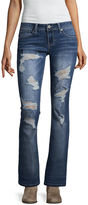 Hydraulic Destructed Slim Fit Bootcut Jeans-Juniors