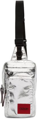 HUGO BOSS Silver Monostrap Messenger Bag