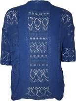 RM Fashions Womens Plus Size Crochet Knit Bolero Cardigan Shrug Top LXL
