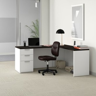 Upper SquareTM Kadian Reversible L-Shape Executive Desk Upper Square Color (Frame): White