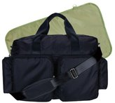 Trend Lab Deluxe Style Diaper Bag, Black and Avocado Green by