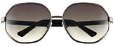 Vince Camuto Wire-frame Oversize Sunglasses