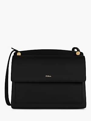 Furla Lady Small Leather Cross Body Bag, Nero