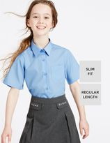 Marks and Spencer 2 Pack Girls' Slim Fit Non-Iron Blouses