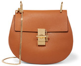 Chloé Drew Small Textured-leather Shoulder Bag - Light brown