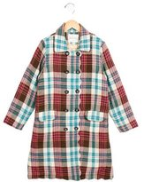 Rachel Riley Girls' Wool Plaid Coat