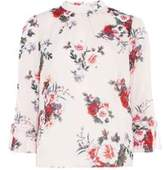 Dorothy Perkins Womens Blush Floral Print High Neck Top- Pink