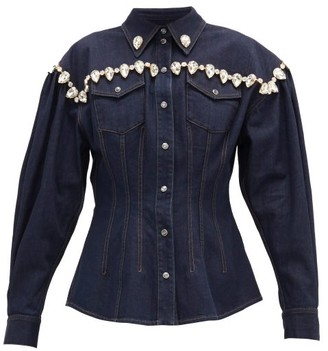 Dolce & Gabbana Crystal-embellished Denim Jacket - Denim