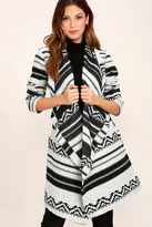 BB Dakota Basin Black and White Print Coat
