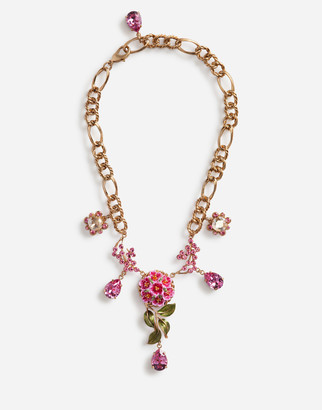 Dolce & Gabbana Short Necklace With Decorative Elements