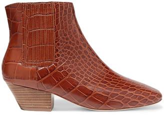 Nanushka Croc-effect Vegan Leather Ankle Boots