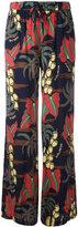P.A.R.O.S.H. Havana print flared trousers - women - Silk/Spandex/Elastane - M
