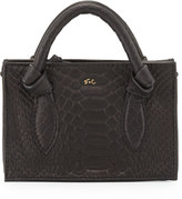 Foley + Corinna Gigi Snake-Embossed Leather Petite Crossbody Bag, Black