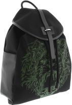 Alexander McQueen 5 Black Green Man Backpack