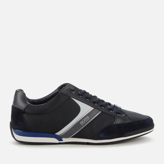 HUGO BOSS Men's Saturn Low Profile Trainers - Dark Blue