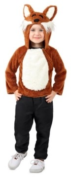 BuySeasons Big Girls and Boys Jose the Fox Hoodie Costume