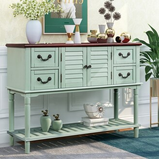 Parrot Uncle Entryway Console Table Sideboard with 4 Storage Drawers