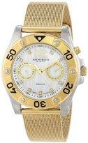Akribos XXIV Women's AK553YG Diamond Gold-Tone Stainless Steel Mesh Bracelet Watch