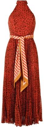 Zimmermann Animal-Print Halterneck Dress