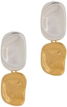 Jenny Bird Thea 14kt gold-dipped drop earrings