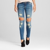 Poetic Justice Women's Curvy Destructed Skinny Jeans