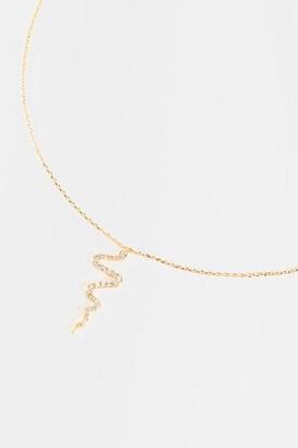francesca's Kiera Snake Pendant Necklace - Gold