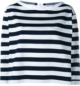 Moncler wide stripe long sleeve top - women - Cotton/Polyester - S