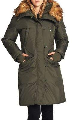 S13 Luxe Alaska Faux Fur-Trim Down Coat