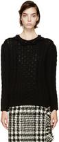 Simone Rocha Black Beaded Collar Sweater