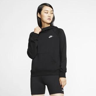 Nike Women's Funnel-Neck Fleece Pullover Hoodie Sportswear Essential