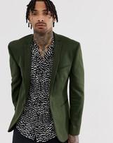Asos Design DESIGN super skinny jersey blazer in khaki