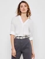Mint Velvet Throw On Shirt - White