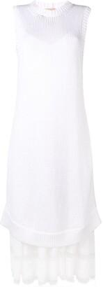 No.21 long layered two-piece dress