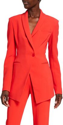 Cushnie Crepe Slim-Fit Blazer Jacket