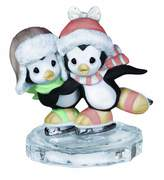 Precious Moments Two Penguins Ice Skating Figurine