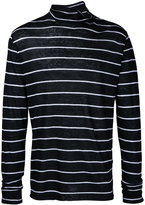 IRO striped long sleeve T-shirt - men - Linen/Flax - S