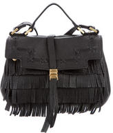 Brian Atwood Fringe Leather Mini Satchel