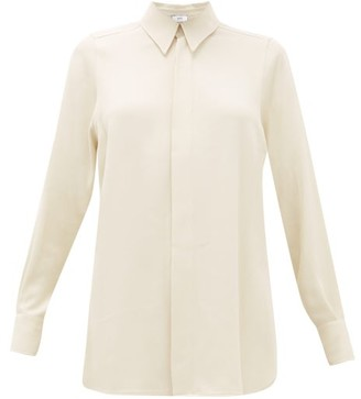Ami Relaxed Twill Shirt - Womens - Ivory