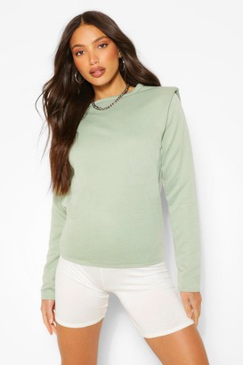 boohoo Tall Long Sleeve Shoulder Pad Sweater