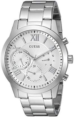 GUESS Classic Stainless Steel Bracelet Watch with Day