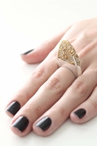 House Of Harlow Diamond Dome Ring in Silver/Gold