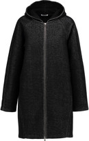 Alexander Wang Neoprene-cotton French terry hooded coat