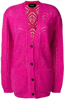 Rochas longline patterned cardigan