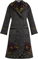 J.W.Anderson Floral and squiggle-embroidered silk coat
