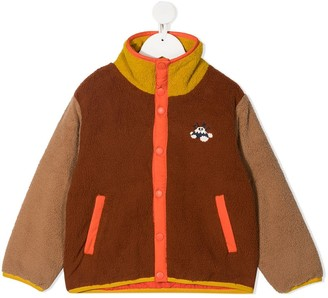 Tiny Cottons Colour-Block Shearling Jacket