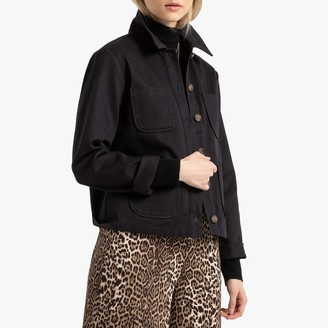 La Redoute Collections Cotton Worker Jacket with Pockets