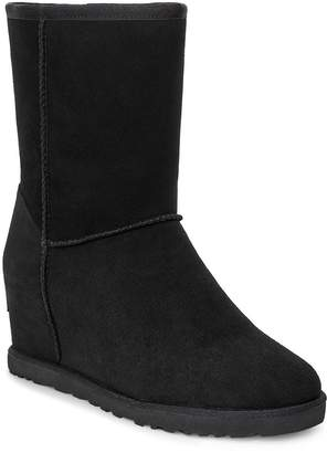 UGG Classic Femme Hidden Wedge Short Calf Boots - Black