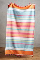 Anthropologie Tasseled Stripes Beach Towel