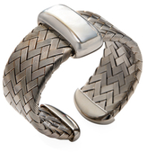 Roberto Coin Turquoise Mother of Pearl & Blackened Silver Woven Bangle Bracelet