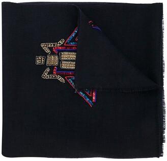 K. Janavi Meat Packing cashmere scarf
